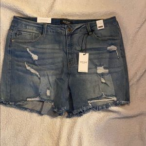 Judy Blue High Waist Light Wash Denim Shorts